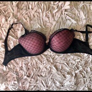 Chantelle Pink Black Bra Size 32DDD